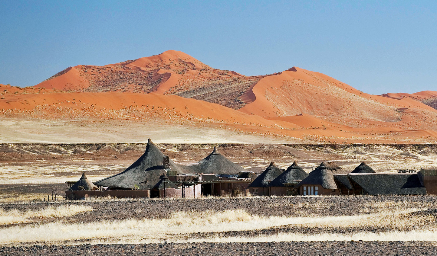 Kulala Desert Lodge is nestled in the Soussulvei dunes