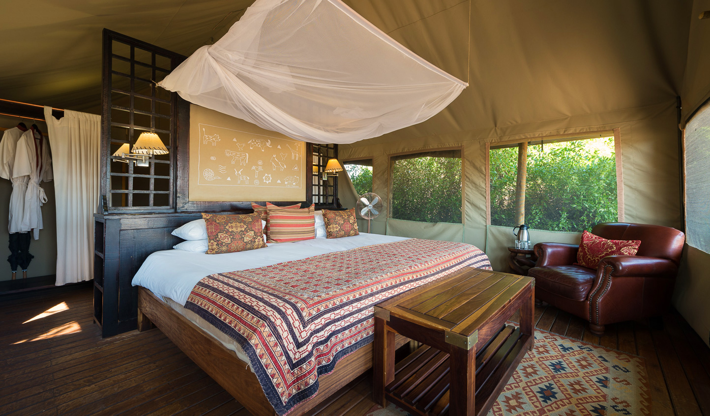 Cosy up in your African-inspired tents