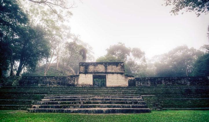 Maya ruins Chaa Creek Belize