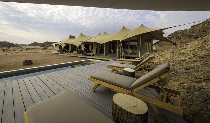 Pool, Hoanib Camp, Namibia