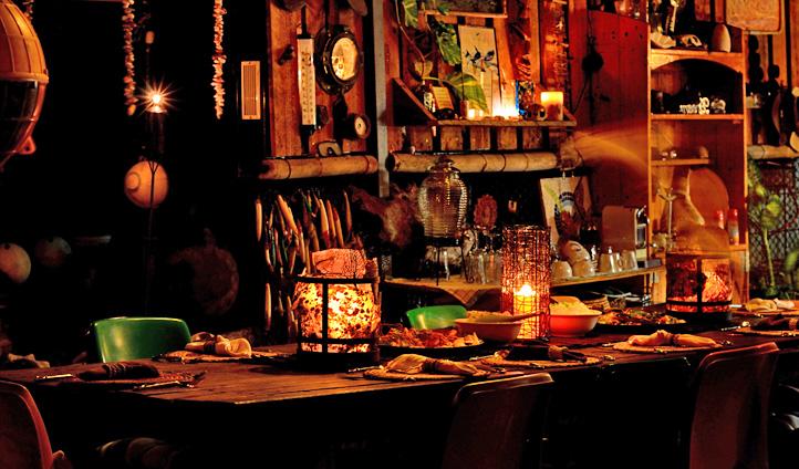 Dining at Banu Banu, Australia
