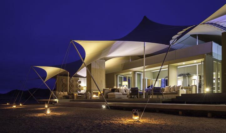 Guest tent, Hoanib Camp, Namibia