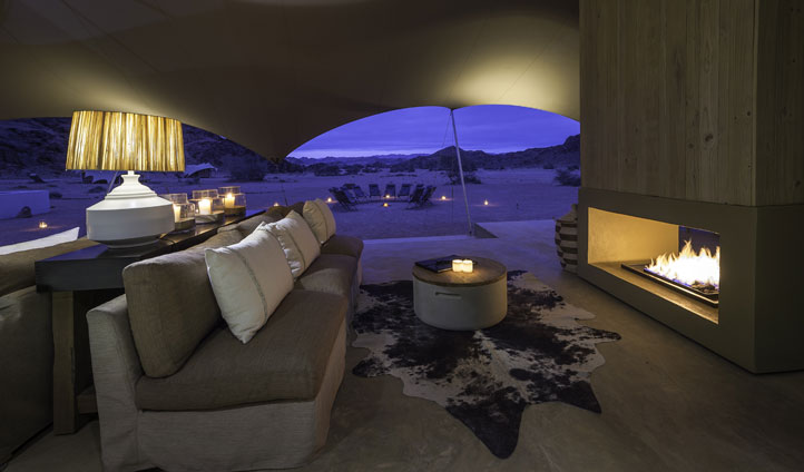Lounge, Hoanib Camp, Namibia