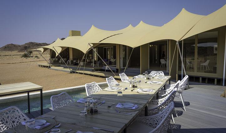 Dining, Hoanib Camp, Namibia