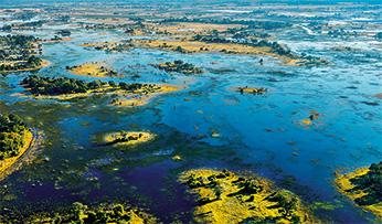 Waterways in Botswana, Africa