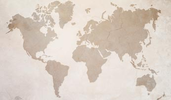 Vintage world map   Black Tomato