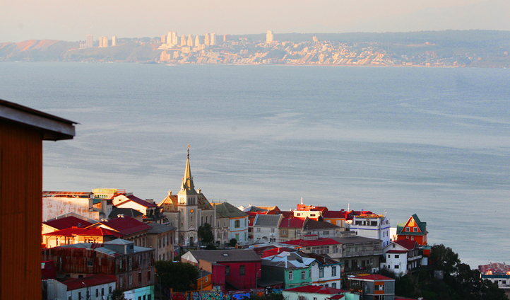 Stunning views over Valparaíso
