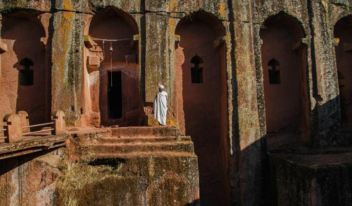 Striking churhes at Lalibela