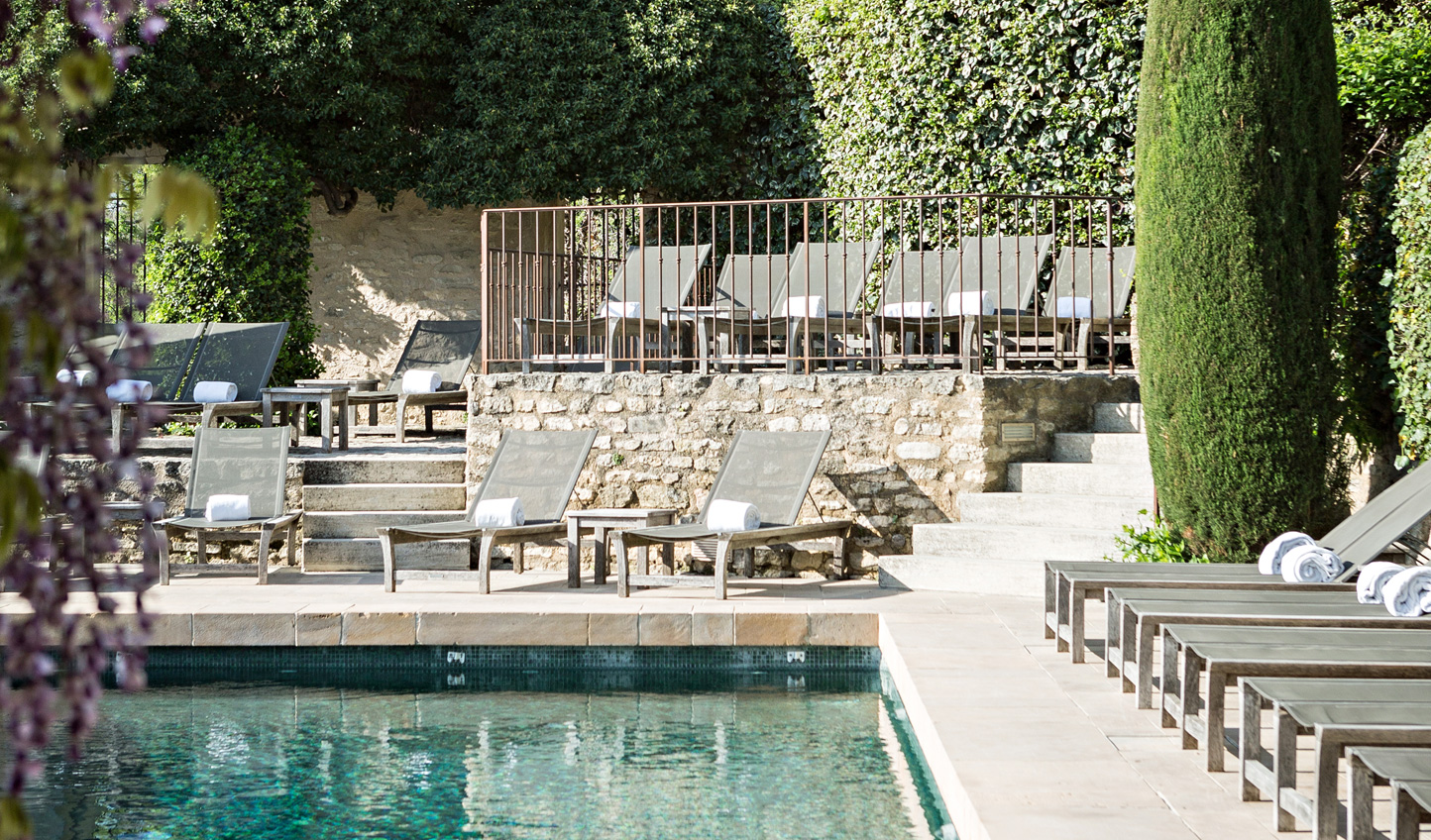 Spend afternoons relaxing by the pool at Crillon le Brave