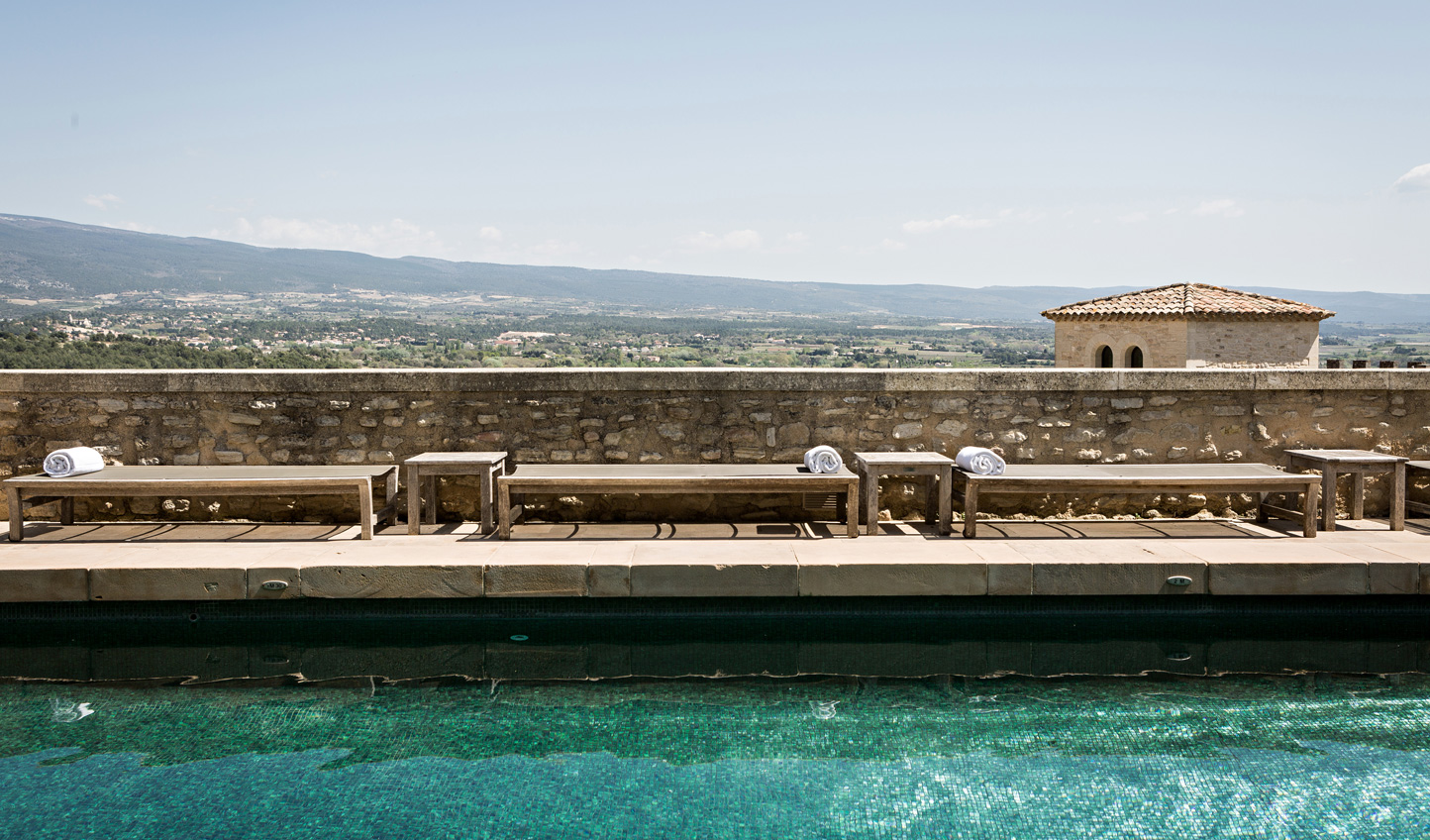 Gaze out over the rolling Provencal countryside from the comfort of the pool