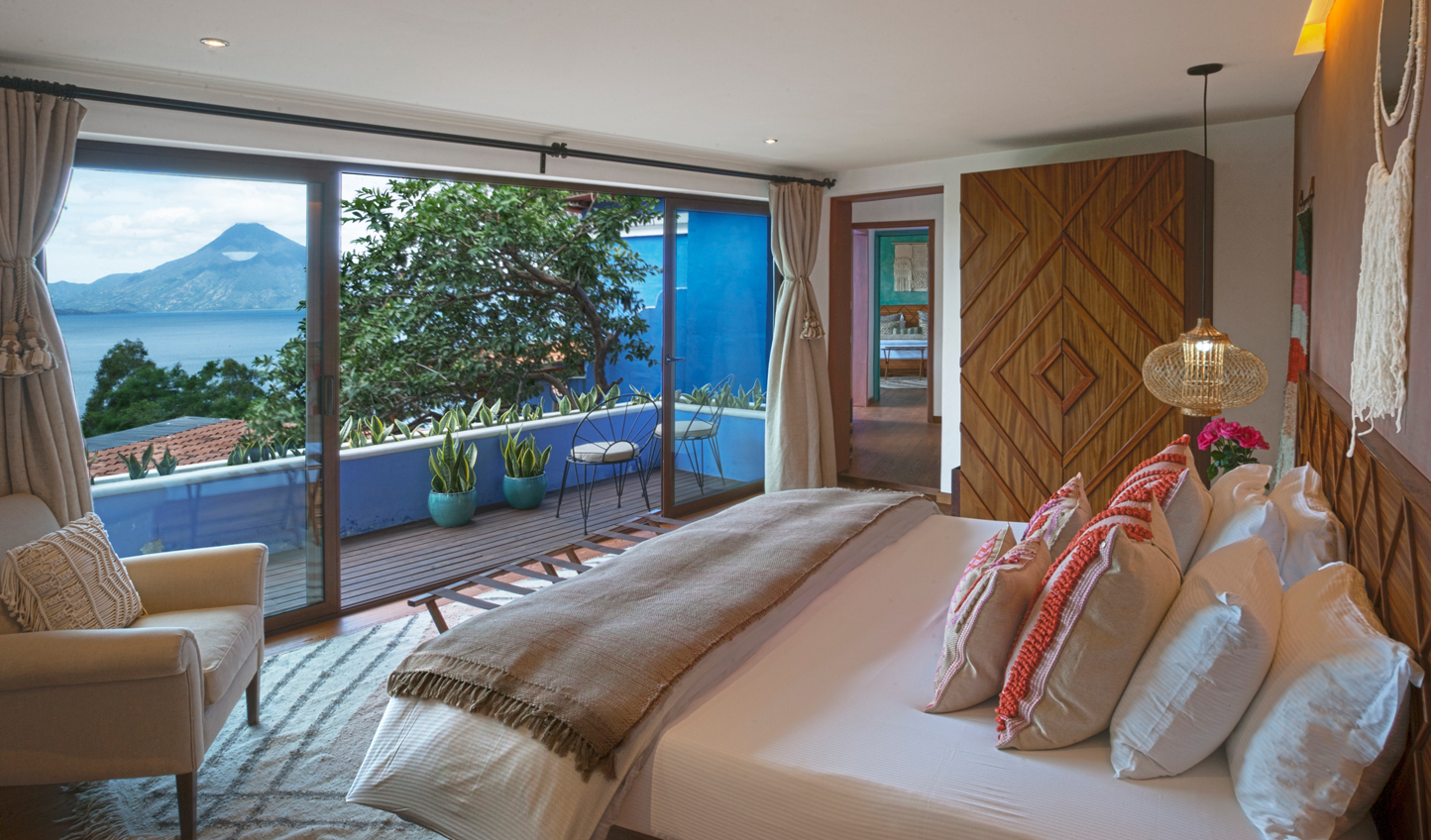 Wake up to views across Lake Atitlan