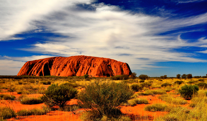 The red hues of Uluru, Australia