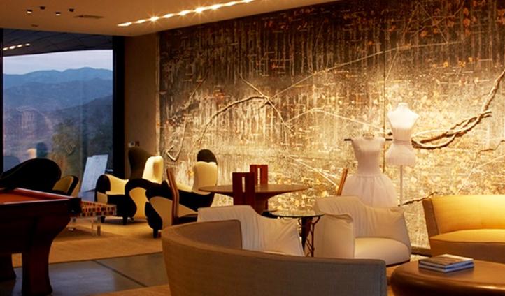 Stylish dining room, Vina Vik, Chile
