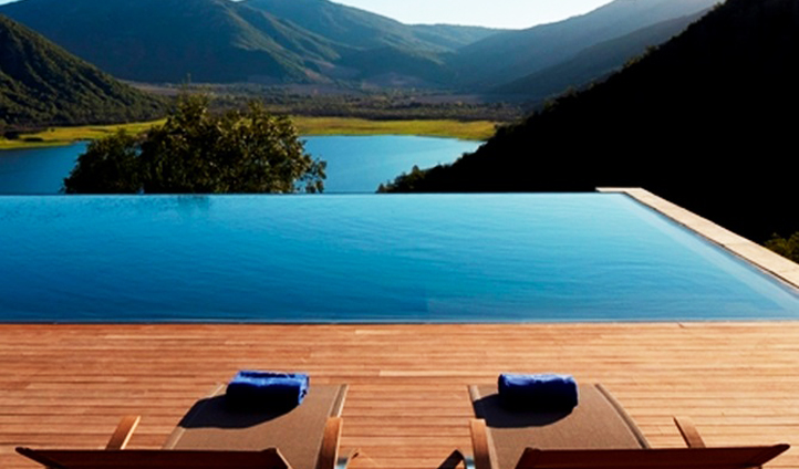 The pool of vina vik, Chile
