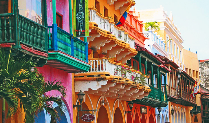 The colours of Cartagena, Colombia