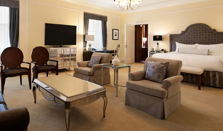 Spread out and unwind in one of the spacious rooms of Fairmont Hotel Vancouver