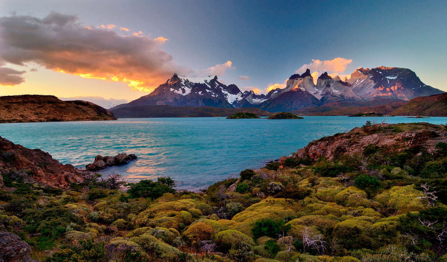 Patagonian sunsets prove hard to beat with fiery skies lighting up the jagged mountainscapes
