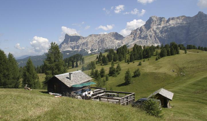 A private lodge at Rosa Alpina