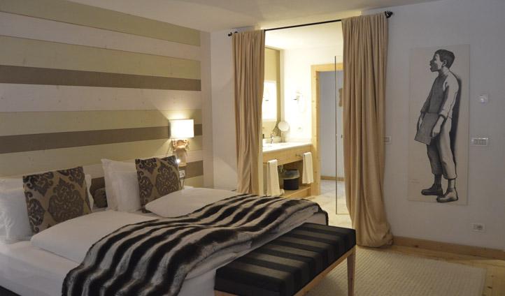 A room at Rosa Alpina, South Tyrol