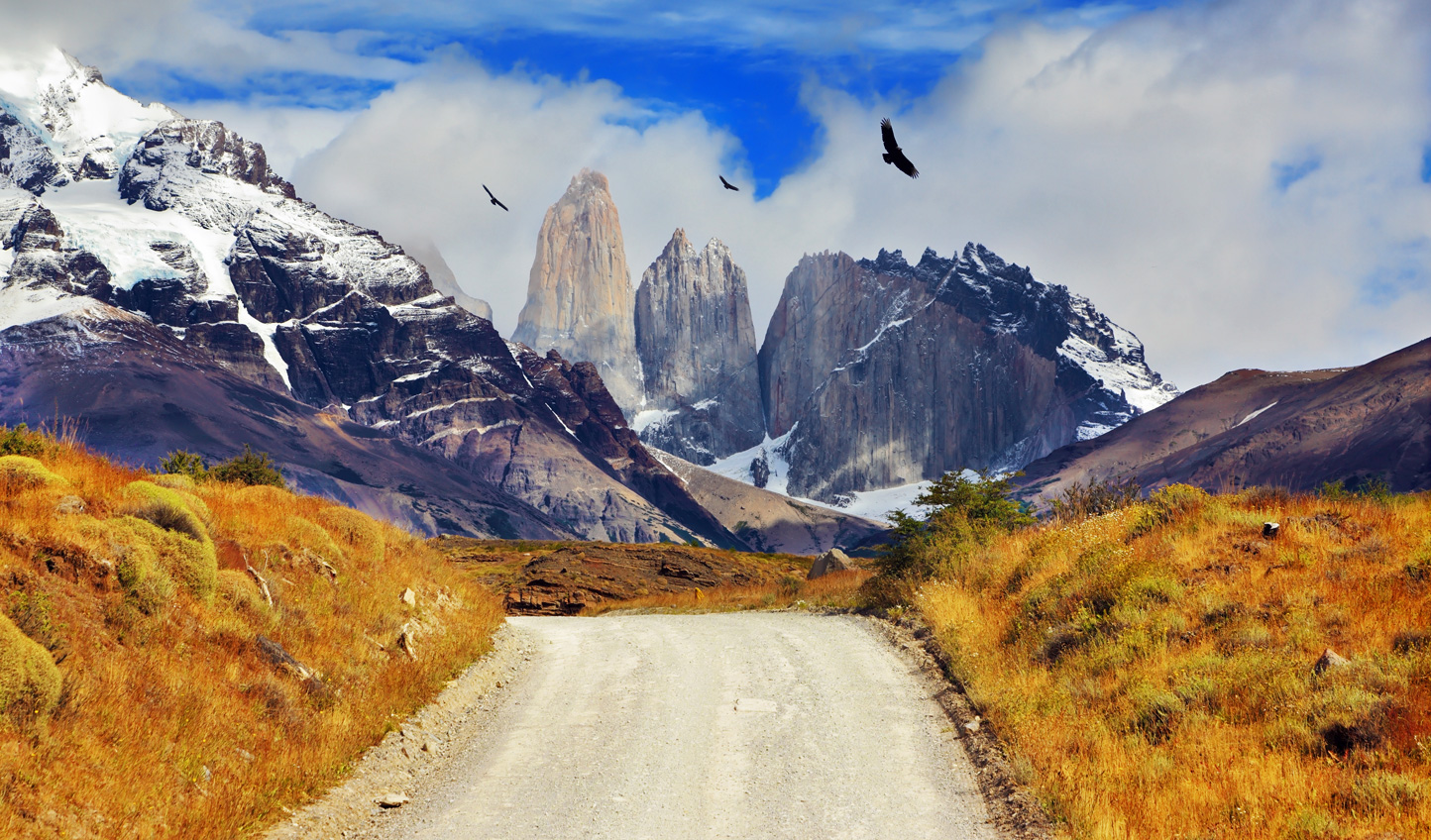 Head south into the iconic Torres del Paine