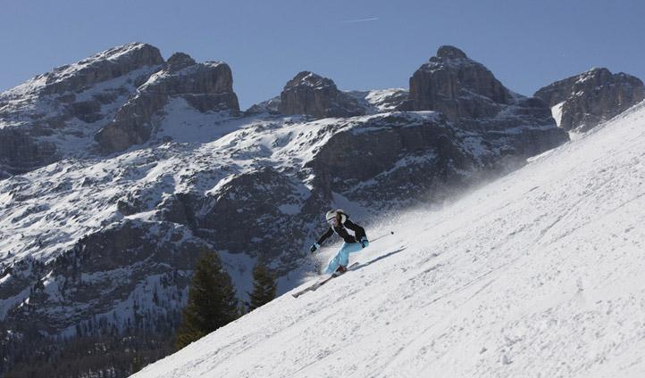 A skier in South Tyrol