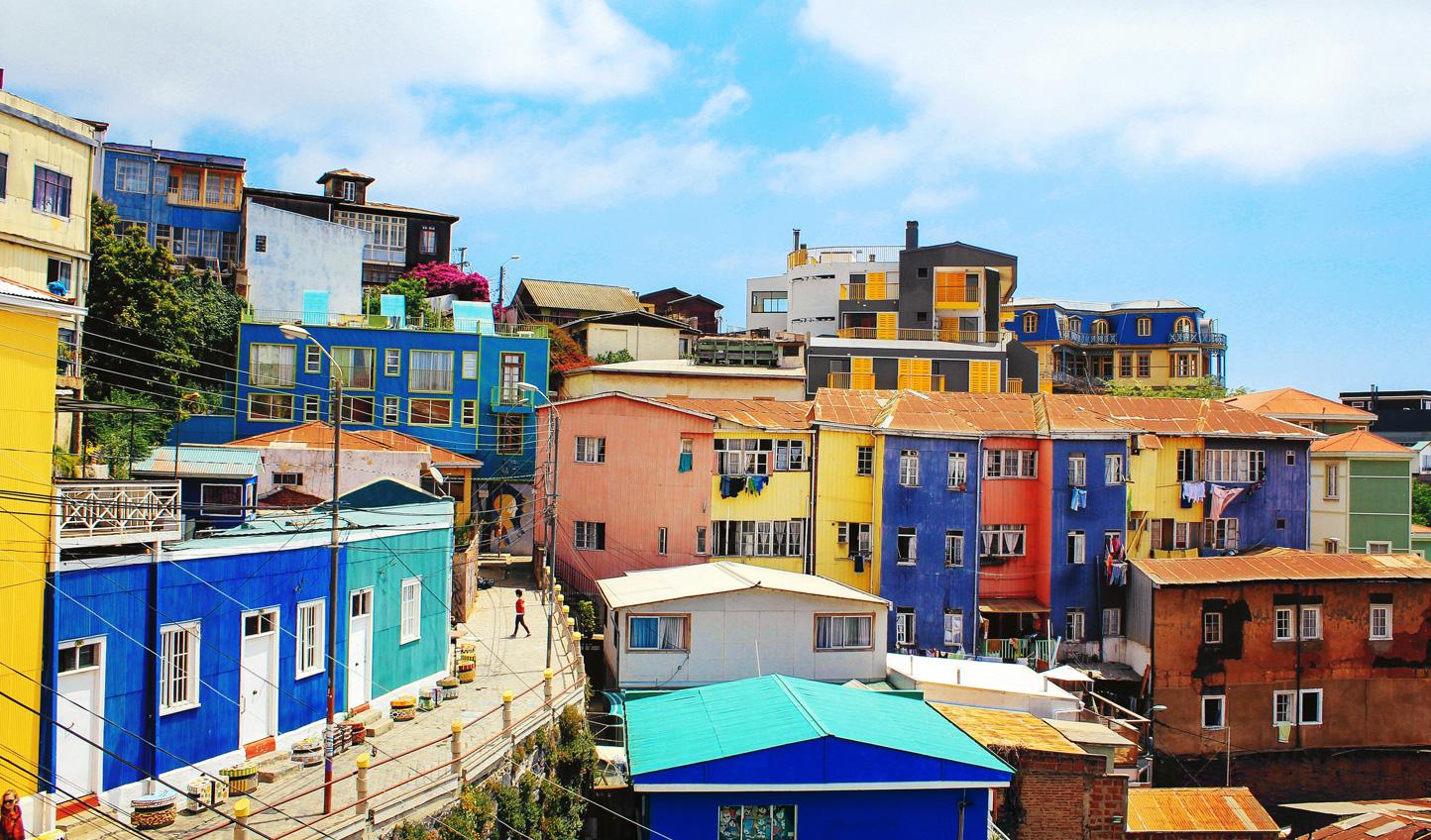 Take a stroll through the colourful hues of Valparaiso