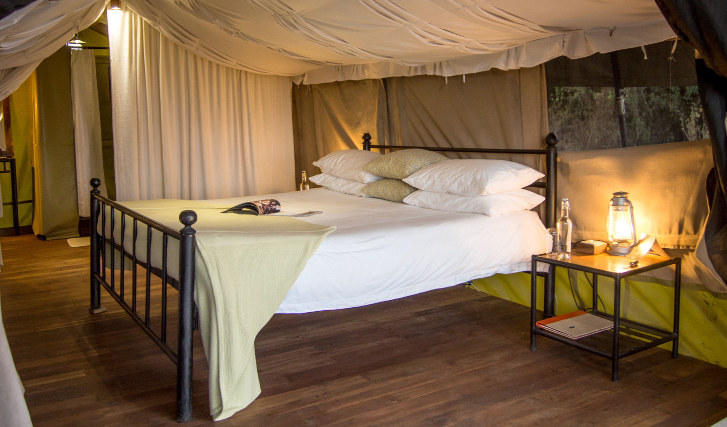 Step into your tent and discover a whole new take on camping