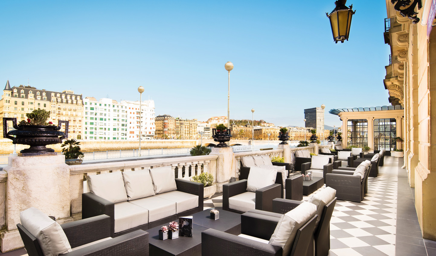 Catch some sun out on the terrace at Maria Christina