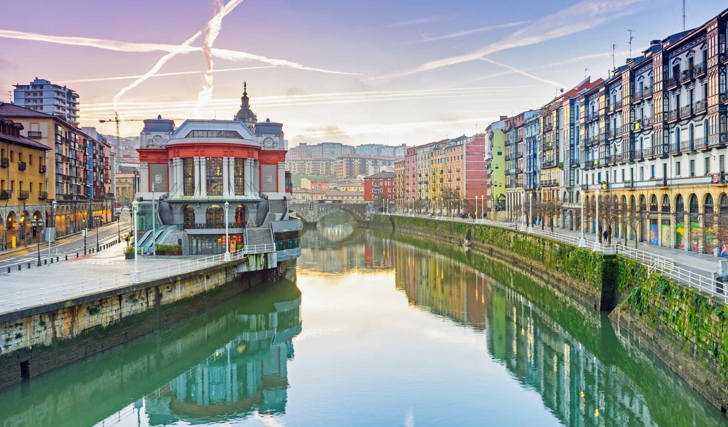 Stroll down the Bilbao River to the Riberia Market