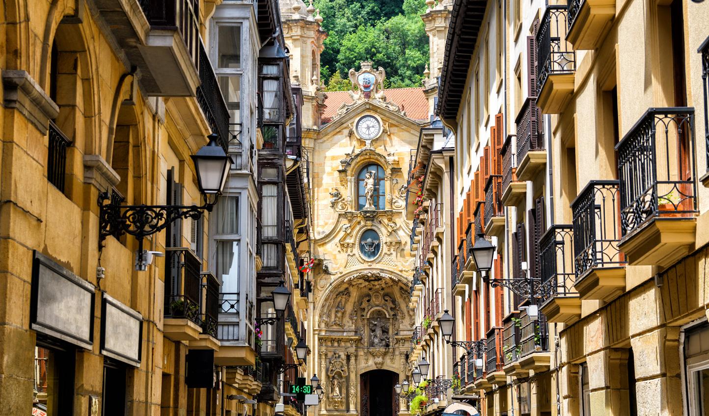 Explore the busy streets of San Sebastian