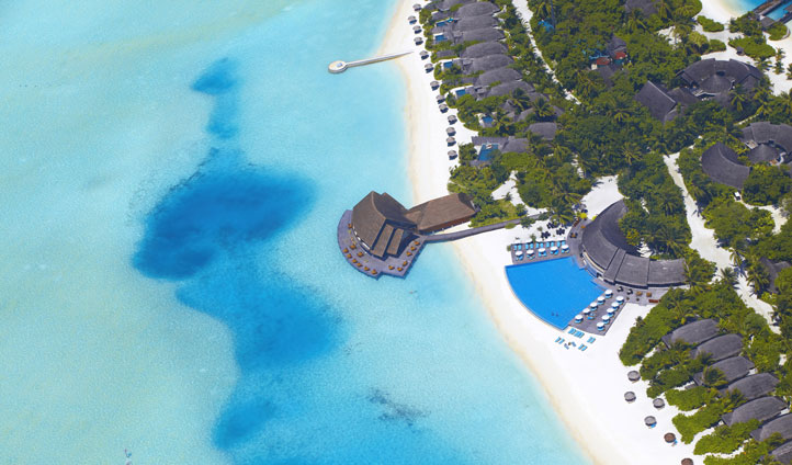 An aerial view of your stunning island escape