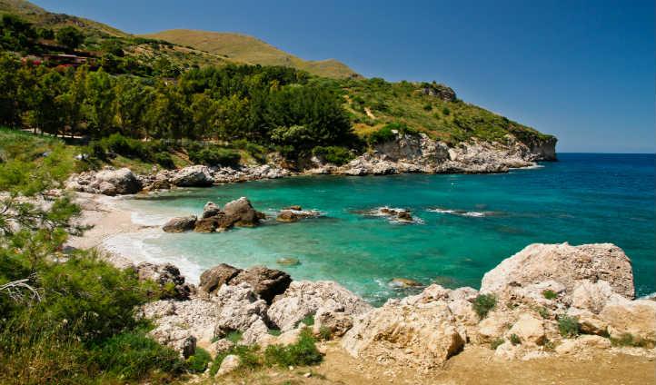 Pumice stone beach of the Aeolian islands