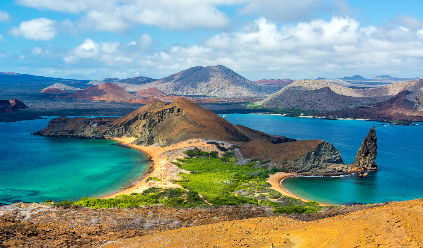 Bask on the sweeping sands of Bartolome Island