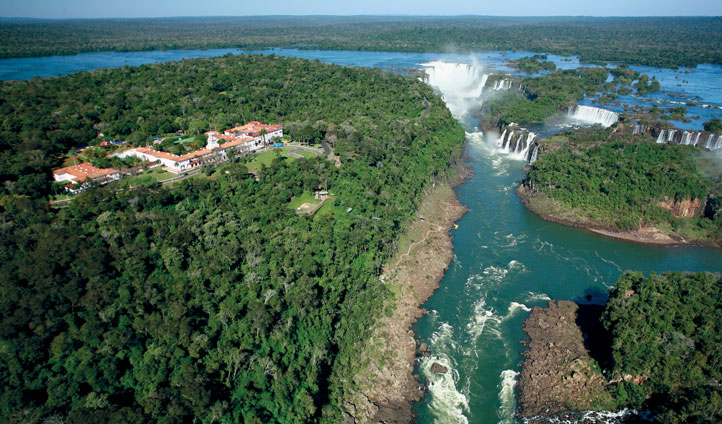 Bask in waterfall views from Hotel das Cataratas