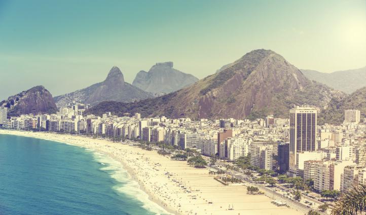 Rio's legendary Copacabana Beach