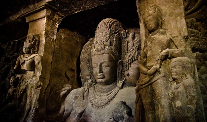 The beautiful Elephanta Caves in Mumbai