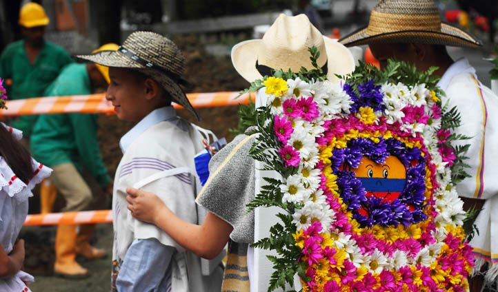 Flower arrangements in Colombia