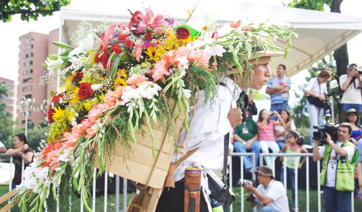 Flower festival of Colombia