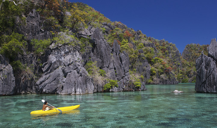 Kayaking, Lagoon in the Philippines