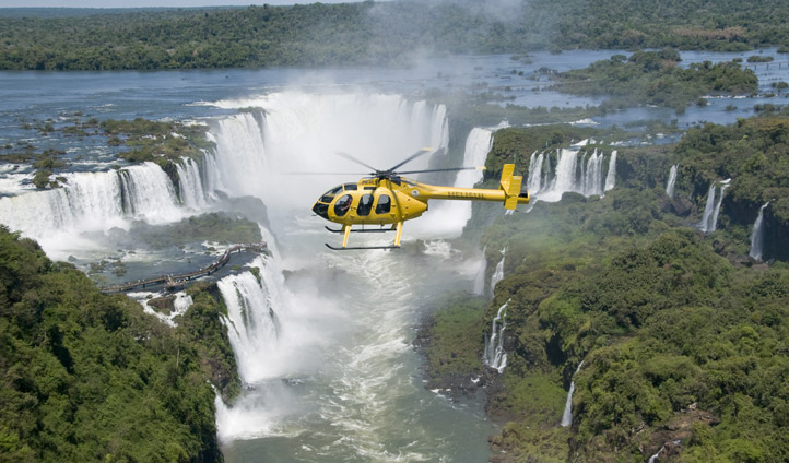 Helicopter ride over the Hotel das Cataratas