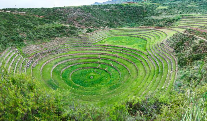 The circular terraces of Moray