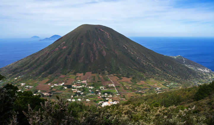 The volcanic island of Stromboli