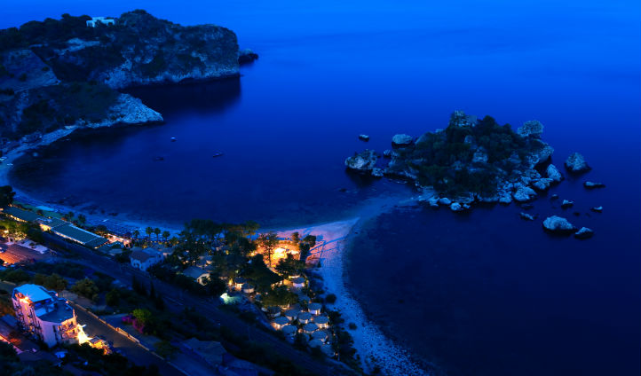 La Plage resort in the beauty of the night