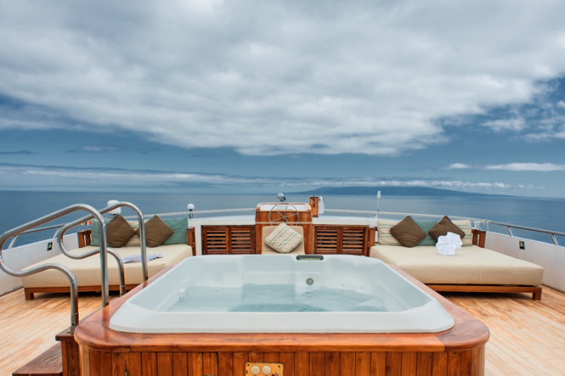 Jacuzzi on deck of the Grand Odyssey - Galapagos Cruise