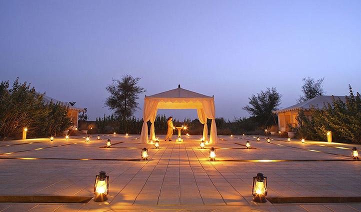 Make a grand entrance at the Serai