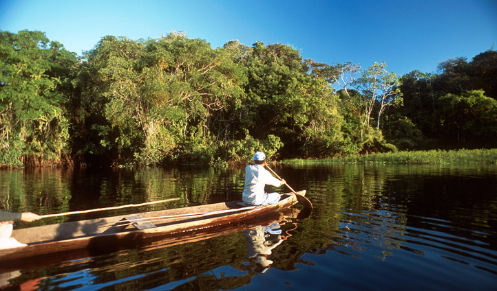 Take a boat through the channels of the Pantanal