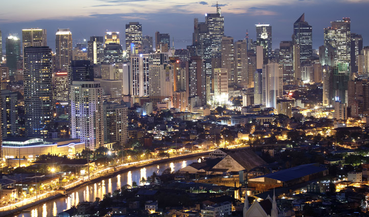 Manila, city skyline, the Philippines