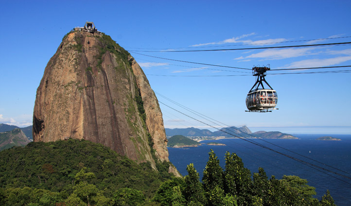 Ride the cable car in Rio