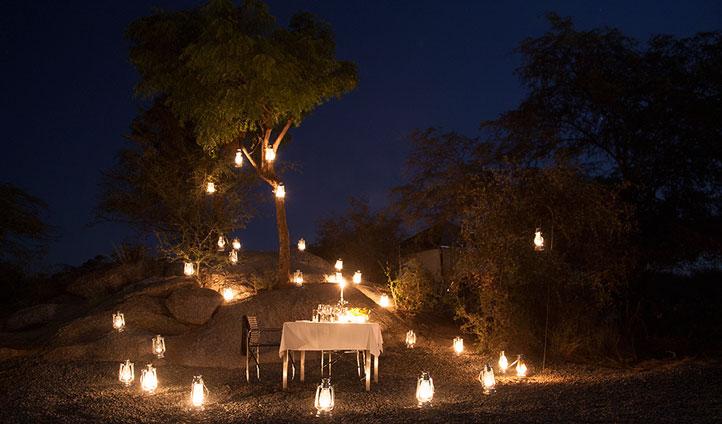 Romantic candlelit dinners at Jawai