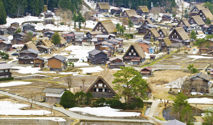Traditional houses in Japan